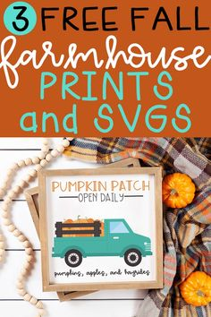 Free fall printables - Free Fall Printables 3 Free Farmhouse Prints and SVGs – Free fall printables Free Silhouette Files, Fall Coloring Pages, Fall Gifts, Vintage Fall, Autumn Crafts, Free Prints, Fall Halloween, Fall Decor, Free Printables