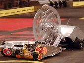 """DIY metal machines fight to the death. Real-life rock 'em sock 'em competition """"BattleBots"""" to air on ABC after a 12-year hiatus."""