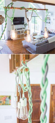 color cord pendant lights