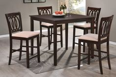 Hillsdale Furniture Arcadia Espresso Counter Height Table And Four Counter Stools 101983 105702 Hillsdale Furniture, Dining Room Furniture, Dining Chairs, Room Chairs, Furniture Decor, Coaster Furniture, Vintage Furniture, Counter Height Table Sets, Pub Table Sets