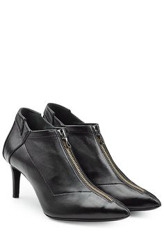 ROLAND MOURET Black Leather Ankle Boots