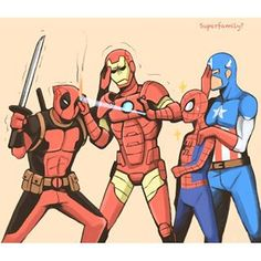 Deadpool pet- Spider-Man's dads are gonna best you up if you don't leave soon Spideypool, Superfamily Avengers, Stony Superfamily, Marvel Vs, Marvel Memes, Marvel Comics, Deadpool Comics, Steve Rogers, Deadpool X Spiderman