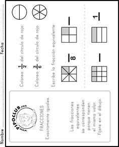 Fracciones equivalentes - #matemáticas #fracciones #mates #Primaria
