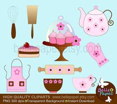 Kitchen and Cupcakes. Kitchenware Teacup Cake. Pink by BellePapel