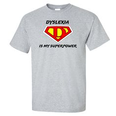 These shirts are so cute for kids...Especially during dyslexia awareness month!