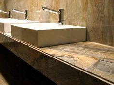 Encimera de mármol para baño