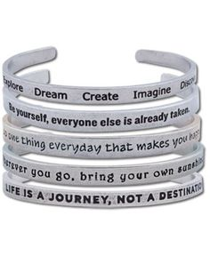 SoulFlower-Kept Quotes Bracelet-$16.00 * where ever you go bring your own sunshine *