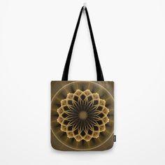 Trendy graphic flower mandala Tote Bag