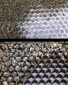 Gravel grids are available in black or white. - Interior Design Fans CORE Gravel grids are available in black or white. - Interior Design Fans,CORE Gravel grids are available in black or white. Front Yard Landscaping, Backyard Patio, Gravel Landscaping, Landscaping Ideas, Mulch Ideas, Pathway Ideas, Landscape Design, Garden Design, Gravel Walkway