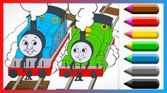 Thomas and Percy Friends Coloring Book - Learn Colors and Coloring Thoma...