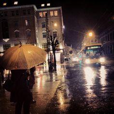 rainy night umbrella | Tumblr