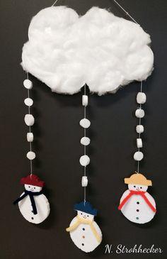 Mobile de bonshommes de neige en sagex