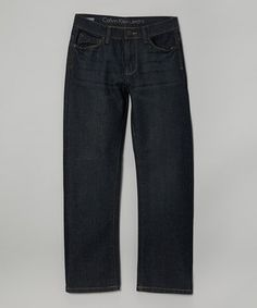 Love this Washed Blue Straight-Leg Jeans - Boys by Calvin Klein Jeans on #zulily! #zulilyfinds