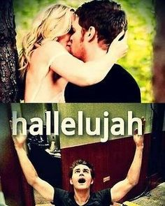 I have waited so damn long and hard and I guess you could say somewhat patient for klaroline ! But now that it happens I feel so dang bad for Tyler and the way he found out I mean just kill off kathrine already and Julie plec , why not just shoot me in the heart already . Yes , yes that was a run off sentence