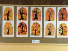 podzimní dekorace do školy - Hledat Googlem School Art Projects, Projects For Kids, Art School, Paper Chains, Fall Winter, Autumn, Tree Forest, Fall Crafts, Greeting Cards