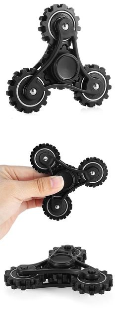 Four Gear Linkage Fidget Spinner Zinc Alloy Stress Relief Toy Relaxation Gift for Adults