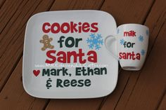 Christmas Personalized Cookie and Milk for Santa by MREdesignsLLC, $25.00