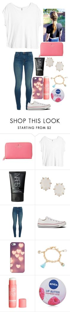 """Untitled #426"" by hailstails ❤ liked on Polyvore featuring Kate Spade, H&M, NARS Cosmetics, Kendra Scott, J Brand, Converse, Casetify, Lonna & Lilly and Nivea"