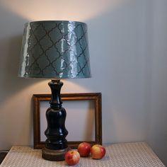 Upcycled Vintage Lamp / Dark Prussian Blue by pinkelephantsretro, $74.99