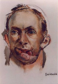 Henry Tonks watercolour documenting facial injuries of the First World War. English Artists, Pastel Drawing, World War I, Military History, Wwi, Dark Art, First World, The Darkest, Facial
