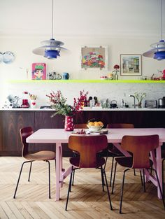 Colourful Kitchen and Dining Space