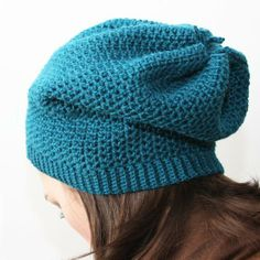 slouchy crochet hat patterns | Sock Slouch Crochet Hat - Knitting Patterns and Crochet Patterns from ...