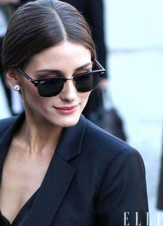 Paris style – Olivia Palermo, paris fashion week street style, black blazer, rayban sunglasses