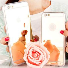 Luxury Mirror Soft Case for iPhone 6 / 6S 4.7 inch / 6 Plus 5.5 inch 5 5s HOT Fashion Gold Siver Rose Phone Back Cover Bag Cases