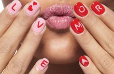 closethorse:  Valentine's Day + love nails