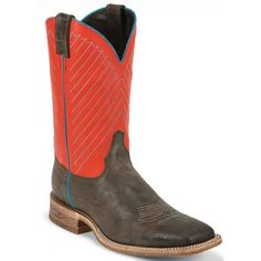 BR315 Justin Men's Bent Rail Western Boots - Vintage Mocha Western Boots, Cowboy Boots, Justin Boots, Country Boys, Leather Cover, Smooth Leather, Block Heels, Westerns, Chelsea