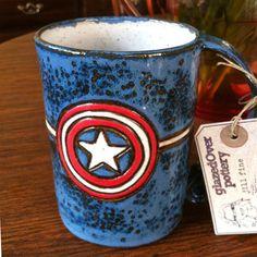 Captain America Coffee Mug 23Ounce Large Avengers by GlazedOver, $42.00 NEED