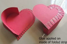 Cards ,Crafts ,Kids Projects: Heart Shaped Box Tutorial
