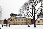 Photos of February 2012 snow by Sarah Groves    Adnams Brewery