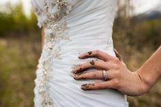 Mud trash the dress