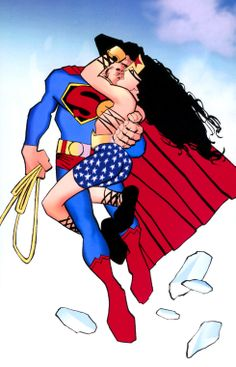 Superman and Wonder Woman by Frank Miller