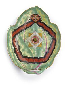 Russian Porcelain Leaf-Shaped Dish from the Service for the Order of St. Vladimir, Gardner Porcelain Manufactory, Verbilki, 1783-1785 - Sotheby's