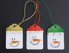Cindy deRosier: My Creative Life: Snowman Gift Tags