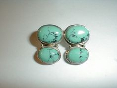 vintage designer MD sterling silver turquoise by fadedglitter42263, $68.00