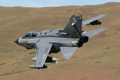 RAF XIII Panavia Tornado GR.4A (ZG729 'M') using callsign 'Marham 23' in full 13 Squadron markings when low-flying through mid Wales as part of Exercise 'Fast Mover' in April 2007.