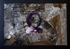 """Saatchi Online Artist Shizico Yi; Collage, """"between the moon and the sun/A family Album series"""" #art"""