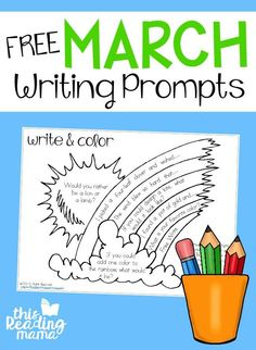 FREE March Writing Prompts - This Reading Mama