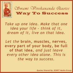 Looking for a sure shot way to success? Here it is....