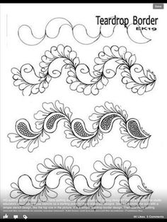 Ideas doodle art zentangle patterns beautiful for 2019 Zentangle Drawings, Doodles Zentangles, Doodle Drawings, Doodle Art, Zen Doodle, Paisley Doodle, Doodle Patterns, Zentangle Patterns, Quilt Patterns