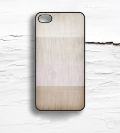 Faux Wood Colorblock iPhone Case