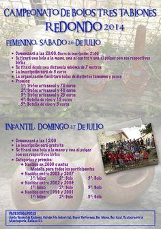 Campeonato de bolos femenino e infantil de Redondo. 26 y 27 de julio de 2014