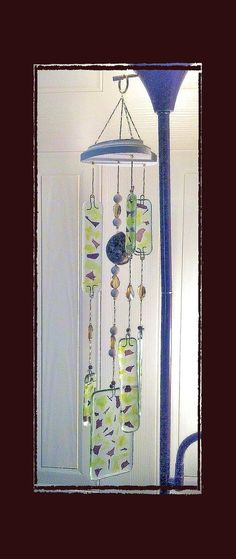 RESERVED 4 CLAUDIA  Turbo Sea Shell & Fused Glass Wind by Eagle414