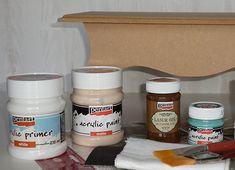 Pentart dekor: Így készíts hamis faerezetet! Paint Primer, Nutella, Decoupage, Handmade, Diy, Painting, Food, Decor, Hand Made
