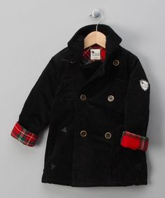 Take a look at this Black Corto Coat - Toddler & Girls by La faute à Voltaire on #zulily today!