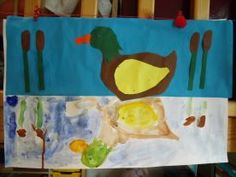 Spiegeling in water Wolf, Pond Life, 3 Arts, Kindergarten, Banner, Birds, Concept, Teaching, Drawings