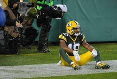 Green Bay Packers wide receiver Randall Cobb (18) reacts from the ground after an incompletion on 4th down in the fourth quarter of the Green Bay Packers 17-13 loss to the Chicago Bears at Lambeau Field in Green Bay, Wis. on Thursday, Nov. 26, 2015. (3418×2314)